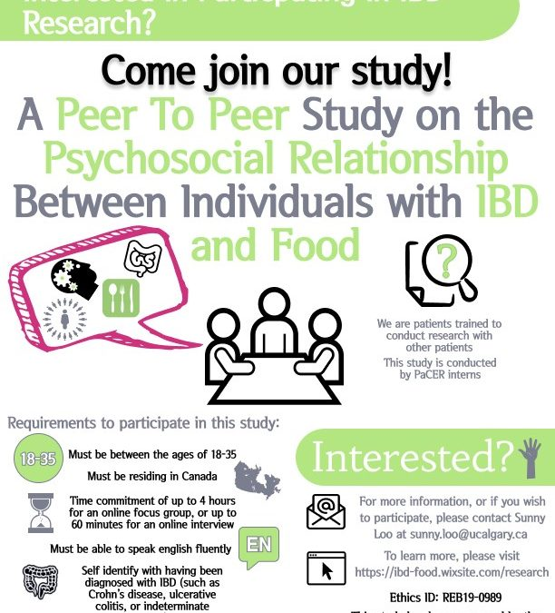 Call For Participants: A Peer-to-Peer Study on the Psychosocial Relationship Between Individuals with IBD and Food