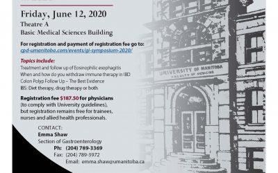University of Manitoba 25th anniversary 2020 Annual GI Symposium