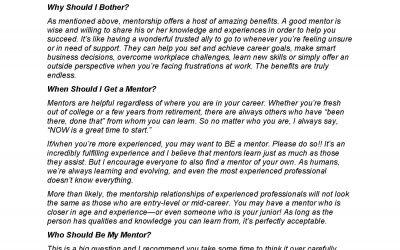 Dr. Paul Beck On Mentoring