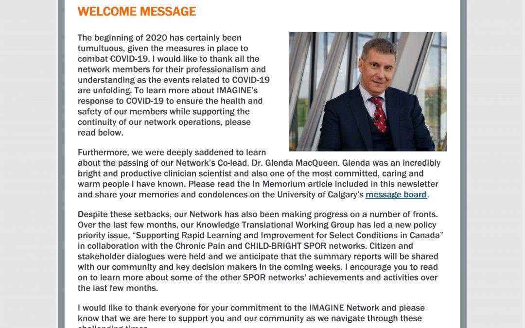 IMAGINE Network Newsletter #12