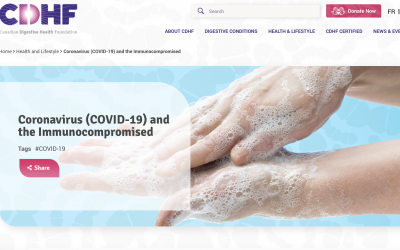 COVID-19 Information from the Canadian Digestive Health Foundation