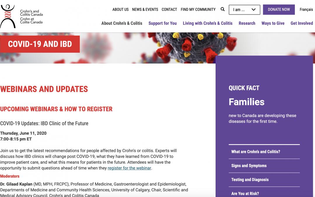 June 11: COVID-19 Updates: IBD Clinic of the Future