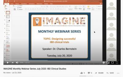 IMAGINE Monthly Webinar Series: July 2020 IBD Clinical Studies