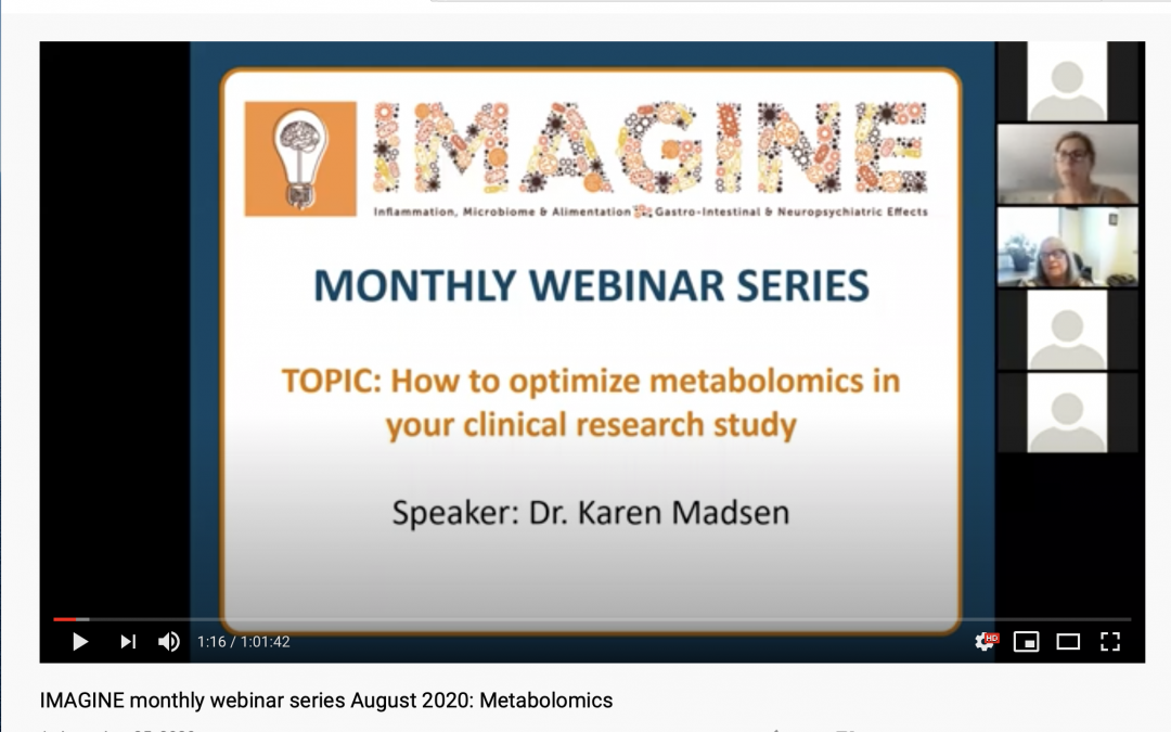 IMAGINE Monthly Webinar Series: August 2020 Metabolomics