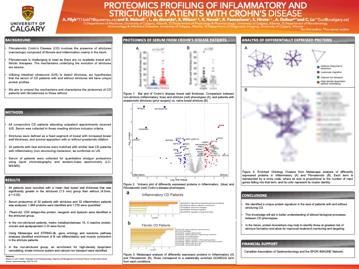 Proteomics Profiling of Inflammatory and  Stricturing Patients with Crohn's Disease