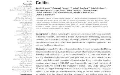 Assessment of Inter-Laboratory Variation in the Characterization and Analysis of the Mucosal Microbiota in Crohn's Disease and Ulcerative Colitis