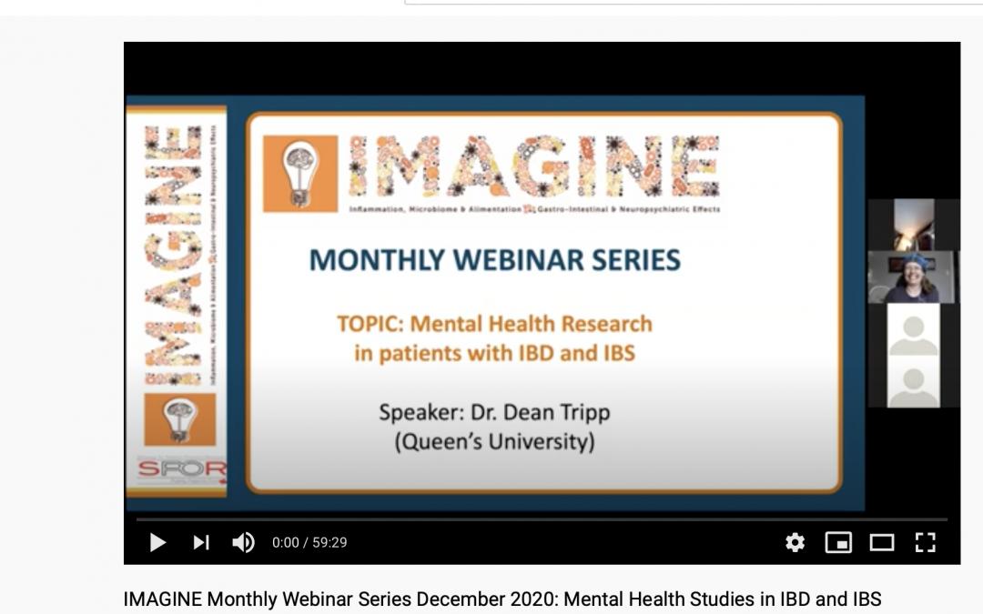 IMAGINE Monthly Webinar Series: December 2020 Mental Health Studies in IBD and IBS