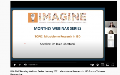 IMAGINE Monthly Webinar Series: January 2021 Microbiome Research in IBD