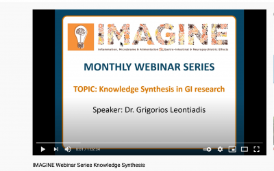 IMAGINE Webinar Series April 2021: Knowledge Synthesis in IBD and IBS