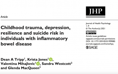 Dr. Dean Tripp Publication: Childhood trauma, depression, resilience and suicide risk in individuals with IBD